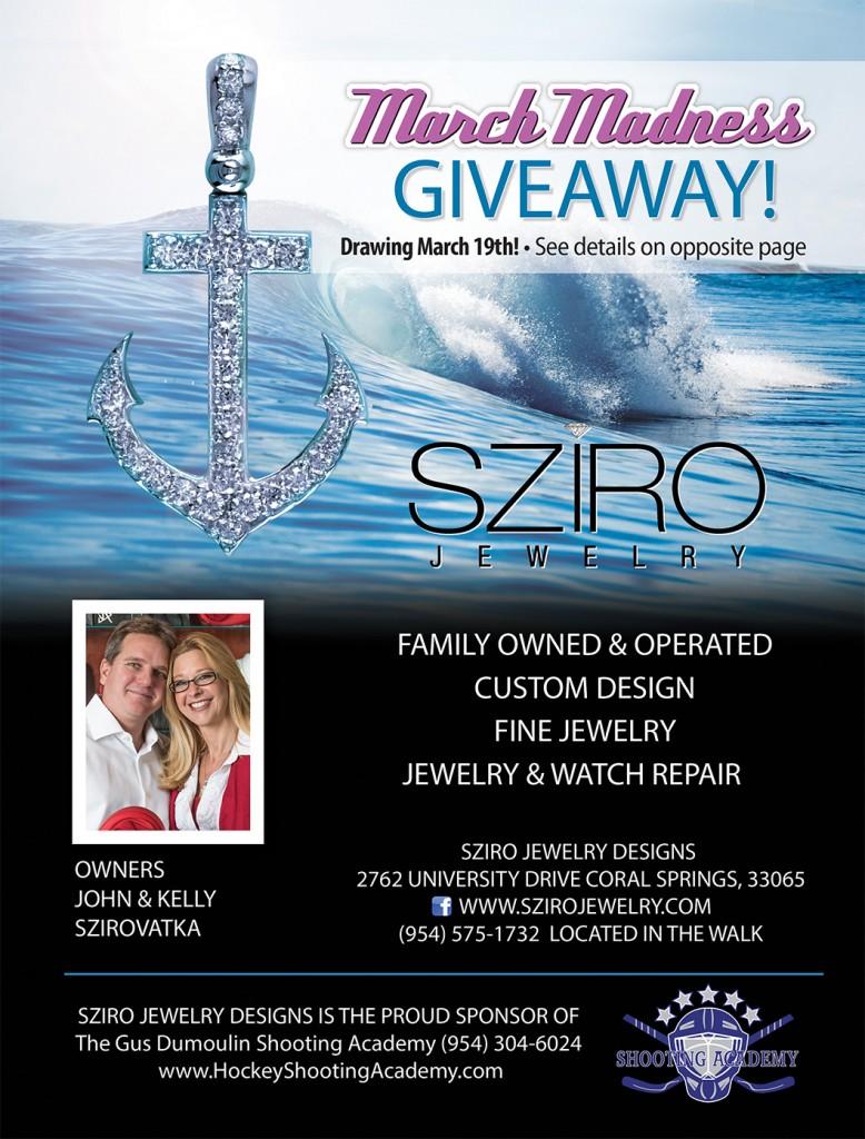 Sziro Jewelry March Madness GIVEAWAY Spectator Publishing