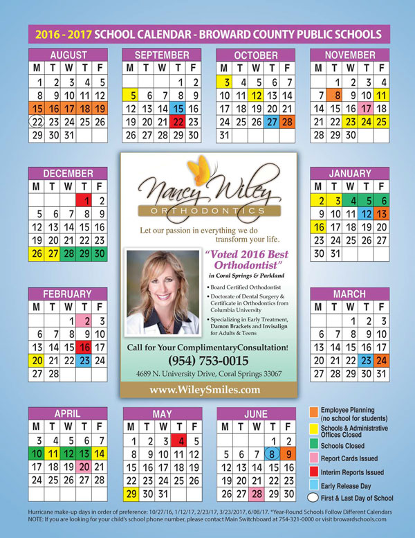 Dr. Nanacy Wiley Broward County School Calendar