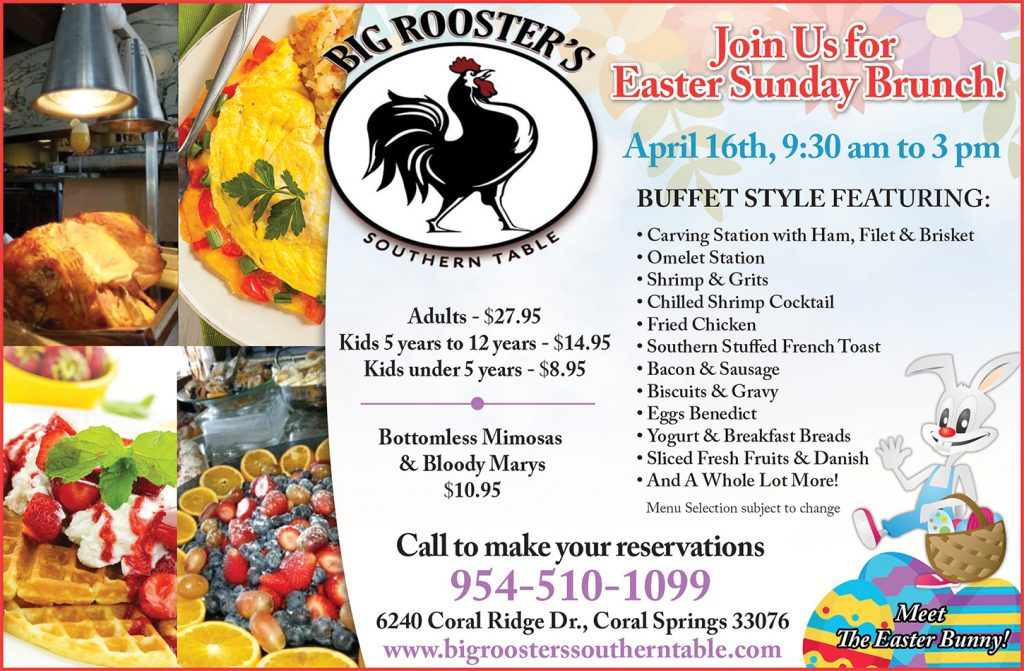Big Roosters Southern Table Easter Brunch ad