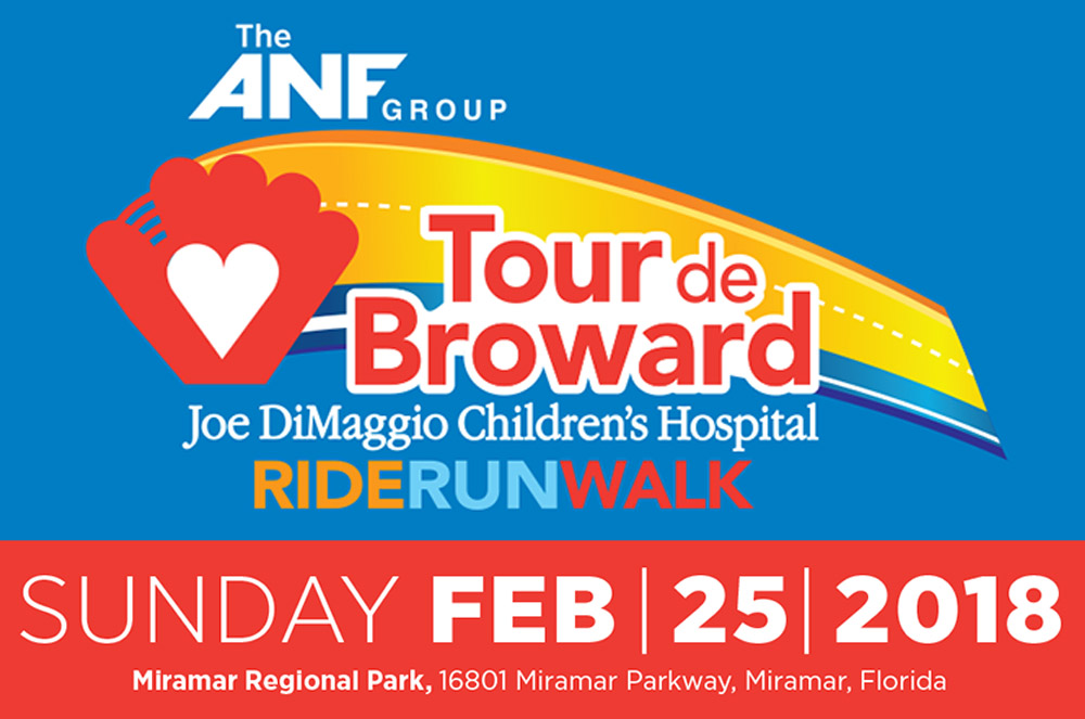 ANF Group Tour De Broward To Benefit  JOE DIMAGGIO CHILDREN'S HOSPITAL