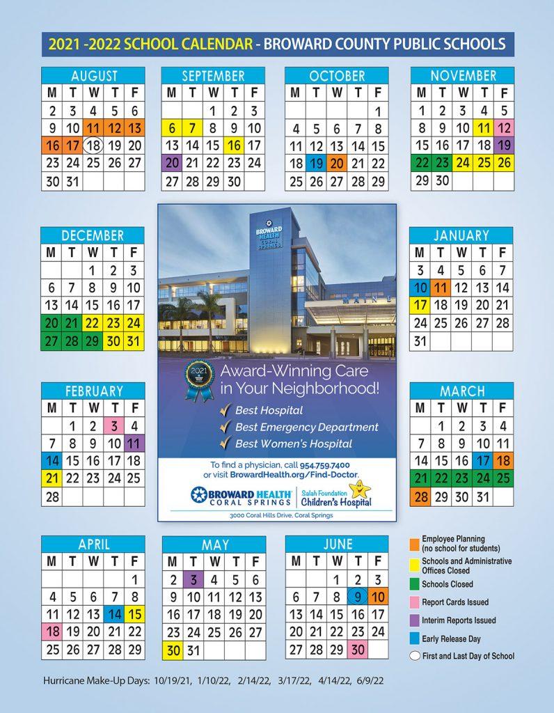 Broward Health School Calendar